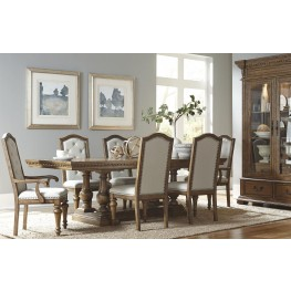 Stratton Medium Wood Extendable Trestle Dining Room Set