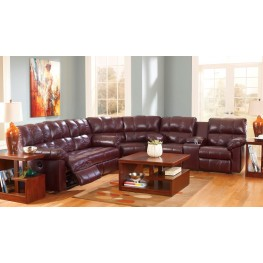 Kennard Burgundy Reclining Sectional