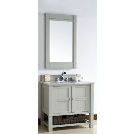 "Madison 36"" Dove Gray Single 2Cm Top Vanity"