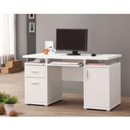 800108 White Computer Desk
