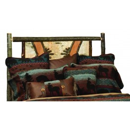Hickory Twin Adirondack Headboard