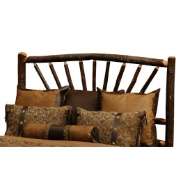 Hickory King Sunburst Log Headboard
