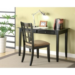 Black Desk and Chair Set 800779