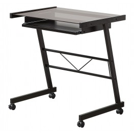 800816 Black Mobile Computer Desk