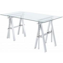 Adjustable Chrome Desk
