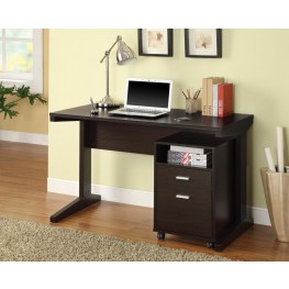 Cappuccino Desk with File Cabinet 800916