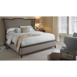 Claire de Lune Toasted Nutmeg Upholstered Panel Bedroom Set