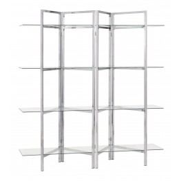 801019 Glass Shelves Bookcase