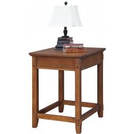 Maclay Red Brown Corner Table
