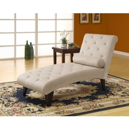 8032 Taupe Velvet Fabric Chaise Lounger