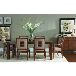 Well Mannered Urbane Brown Small Leg Dining Room Set