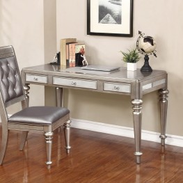 Bling Game Metallic Platinum Writing Desk