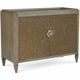 The Foundry IV Brown Stone Top Bar Cabinet