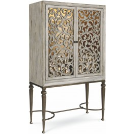 The Foundry IIII Gray Bar Cabinet