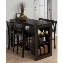 Maryland Merlot Counter Height Storage Dining Room Set