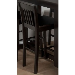 Maryland Merlot Slat Back Stool Set of 2