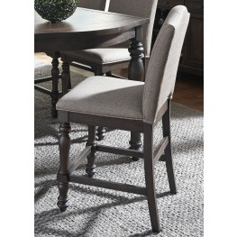 Catawba Hills Peppercorn Upholstered Counter Height Chair Set of 2