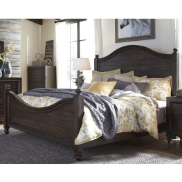 Catawba Hills Peppercorn King Poster Bed