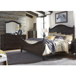 Catawba Hills Peppercorn Poster Bedroom Set