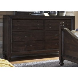 Catawba Hills Peppercorn 6 Drawer Dresser