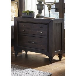 Catawba Hills Peppercorn 2 Drawer Nightstand
