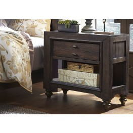 Catawba Hills Peppercorn Chair Side Nightstand