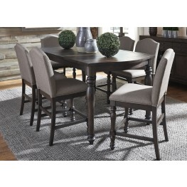 Catawba Hills Peppercorn Extendable Gathering Dining Room Set