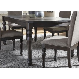 Catawba Hills Peppercorn Extendable Rectangular Leg Dining Table