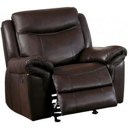 Aram Dark Brown Glider Reclining Chair