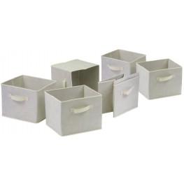 Capri Foldable Beige Baskets Set of 6