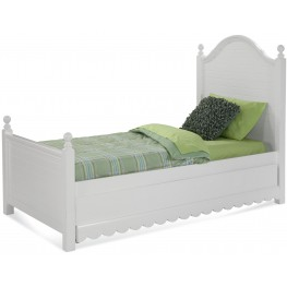 Jasmine White Twin Poster Bed