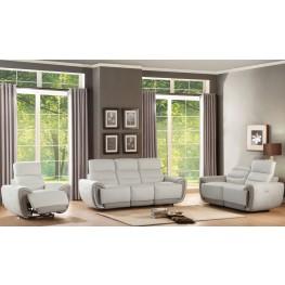 Valda White Power Double Reclining Living Room Set