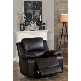 Oriole Dark Brown Swivel Glider Reclining Chair