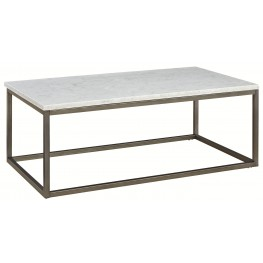 Alana Acacia Marble Top Rectangular Coffee Table