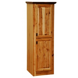 "Hickory Right Hinged 24"" Linen 2 Single Doors Cabinet"