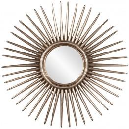 Cascade Silver Leaf Starburst Mirror