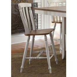 Al Fresco III Slat Back Counter Chair Set of 2