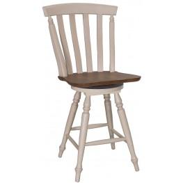 Al Fresco III Driftwood and Sand Slat Back Swivel Counter Chair Set of 2