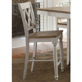 Al Fresco III Double X Back Counter Chair Set of 2