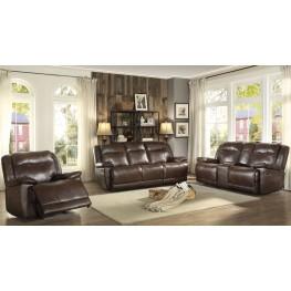 Wasola Brown Triple Reclining Living Room Set
