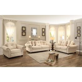 Vicarrage Cream Tufted Living Room Set
