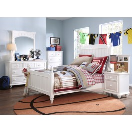 SummerTime Fresh White Youth Poster Bedroom Set