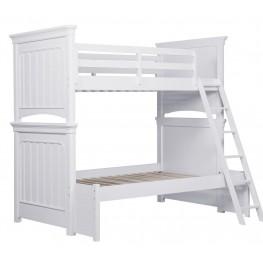 SummerTime Fresh White Twin over Full Bunk Bed