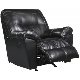 Kilzer DuraBlend Black Rocker Recliner