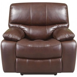 Presidential Hampstead Brown Leather Power Recliner