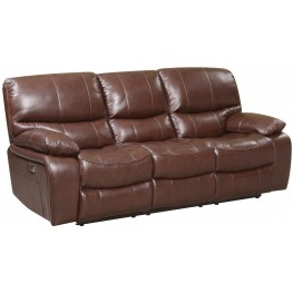 Presidential Hampstead Brown Leather Power Reclining Sofa
