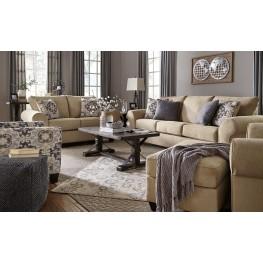 Denitasse Parchment Living Room Set