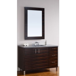 "Metropolitan 48"" Macassar Ebony Single 3CM Top Vanity Set"