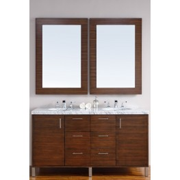 "Metropolitan 60"" American Walnut Double 4CM Top Vanity Set"