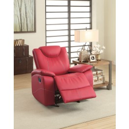Talbot Red Glider Reclining Chair
